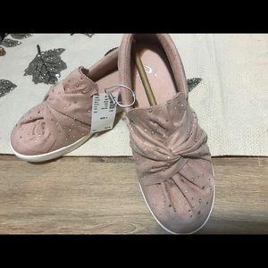 New Girls Justice Blush Pink Rhinestones Shoes 4